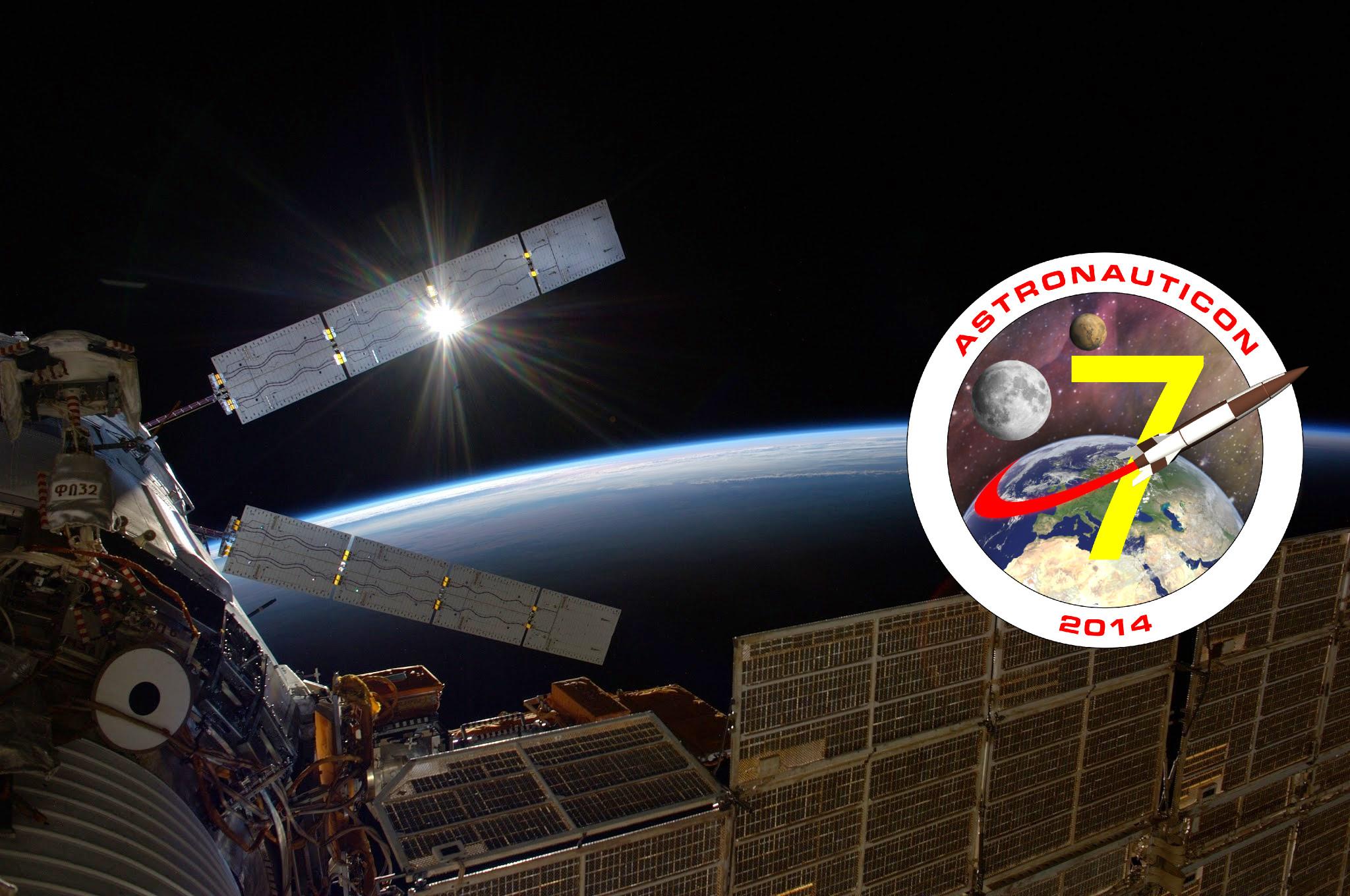 Banneri di AstronautiCON 7. Credit: NASA/Riccardo Rossi